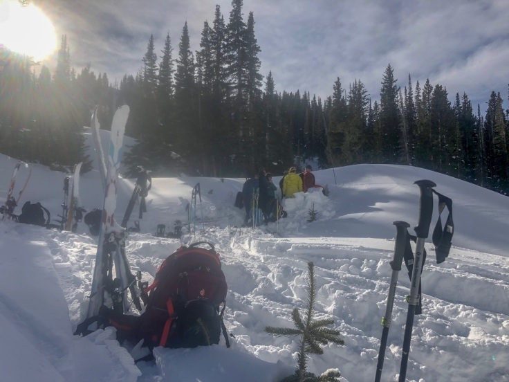 snow pits in wasatch