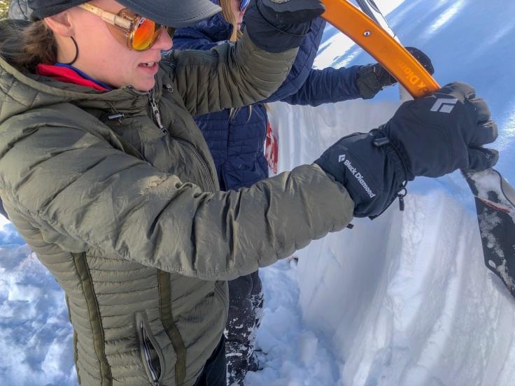 digging snow pits